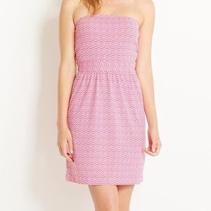 Vineyard Vines whale tail pink strapless dress